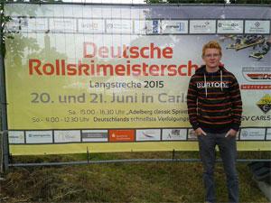 Jonas Wallner bei der Deutschen Rollskimeisterschaft