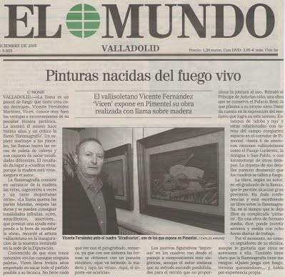 """""""Pinturas nacidas del fuego vivo"""""""