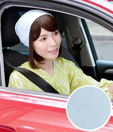 【医療用帽子シャロットサックス】春の紫外線や暑さに対応した涼しい医療用帽子。天然素材で接触冷感を実現!スポエリーアイスコットン100%でひんやり♪