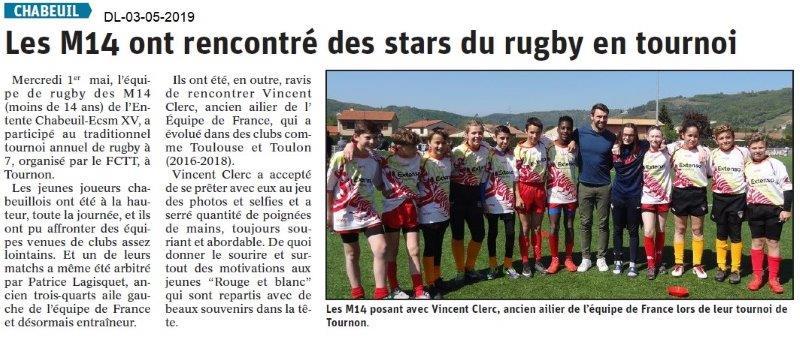 Dauphiné Libéré du 03-05-2019- Rugby