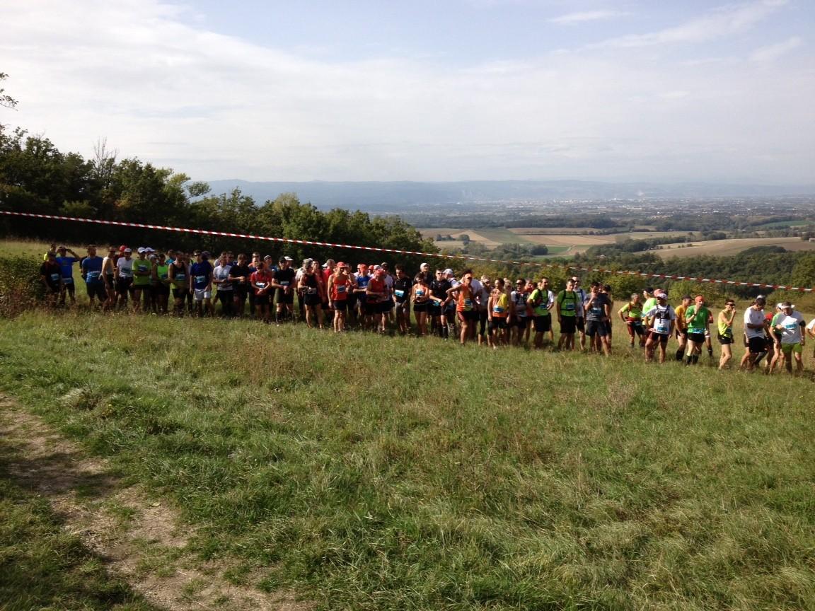 Départ course nature 20 km.