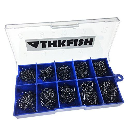# 3/~ 12 500/unidades por set /gran acero al carbono con caja original al por menor. diferentes tama/ños Anzuelos de pesca con agujero para cebo o se/ñuelo