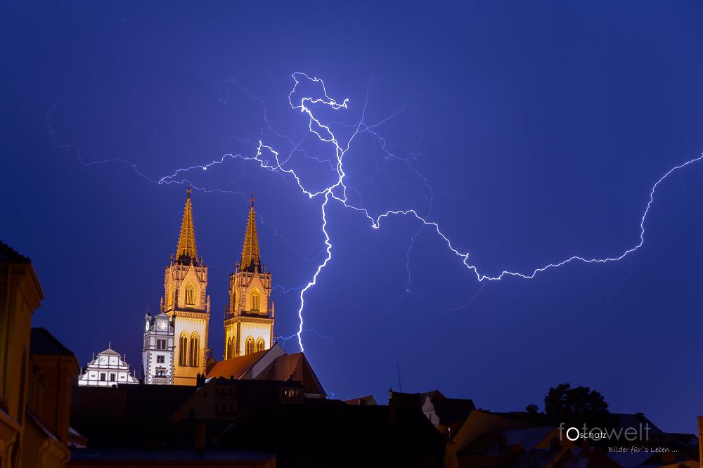 Blitz und Donner über Oschatz