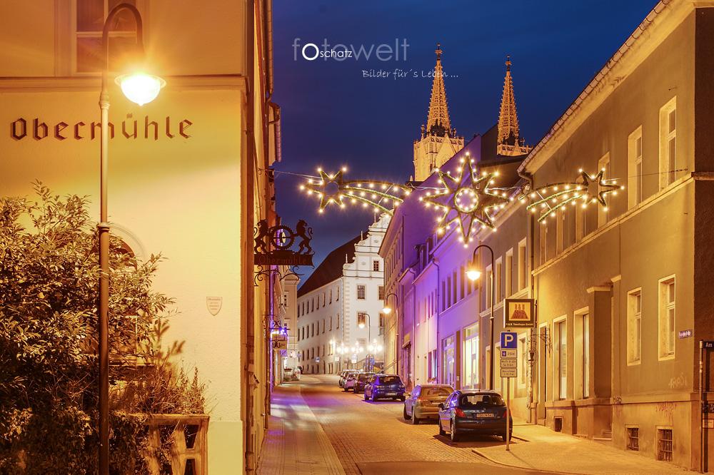 Hospitalstrasse in Oschatz zur Weihnachtszeit