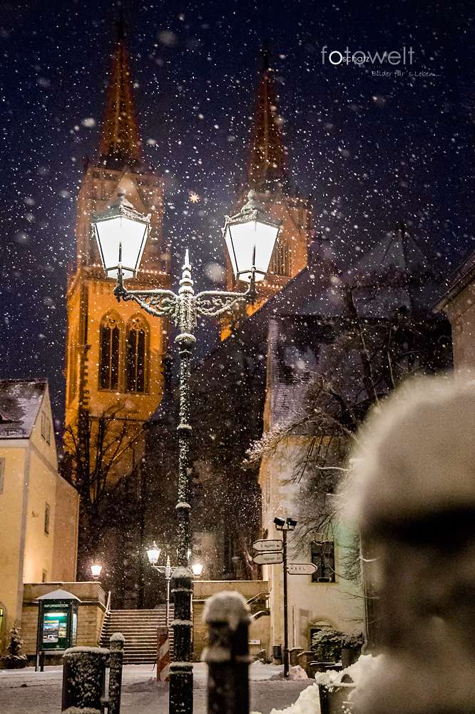 es schneit in Oschatz