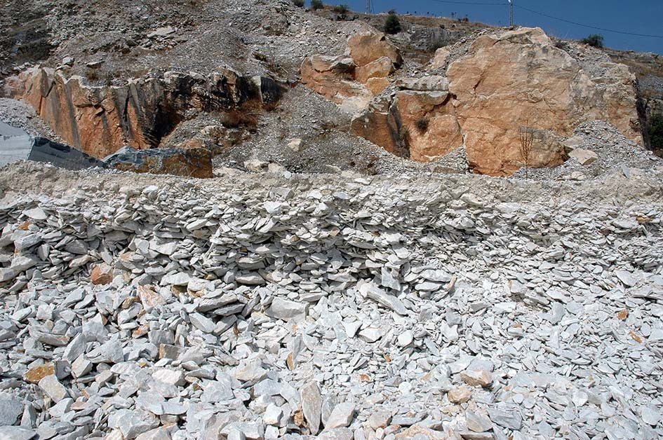 Debitage dump at the Belevi quarry