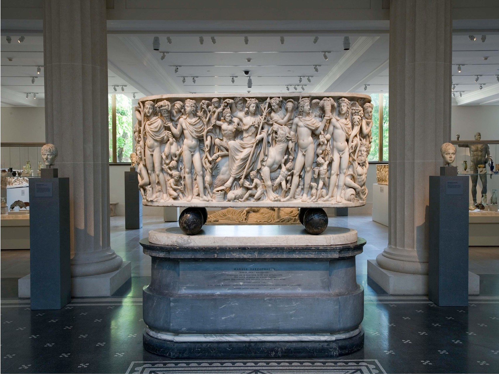 The Badminton sarcophagus in the Metropolitan Museum, New York