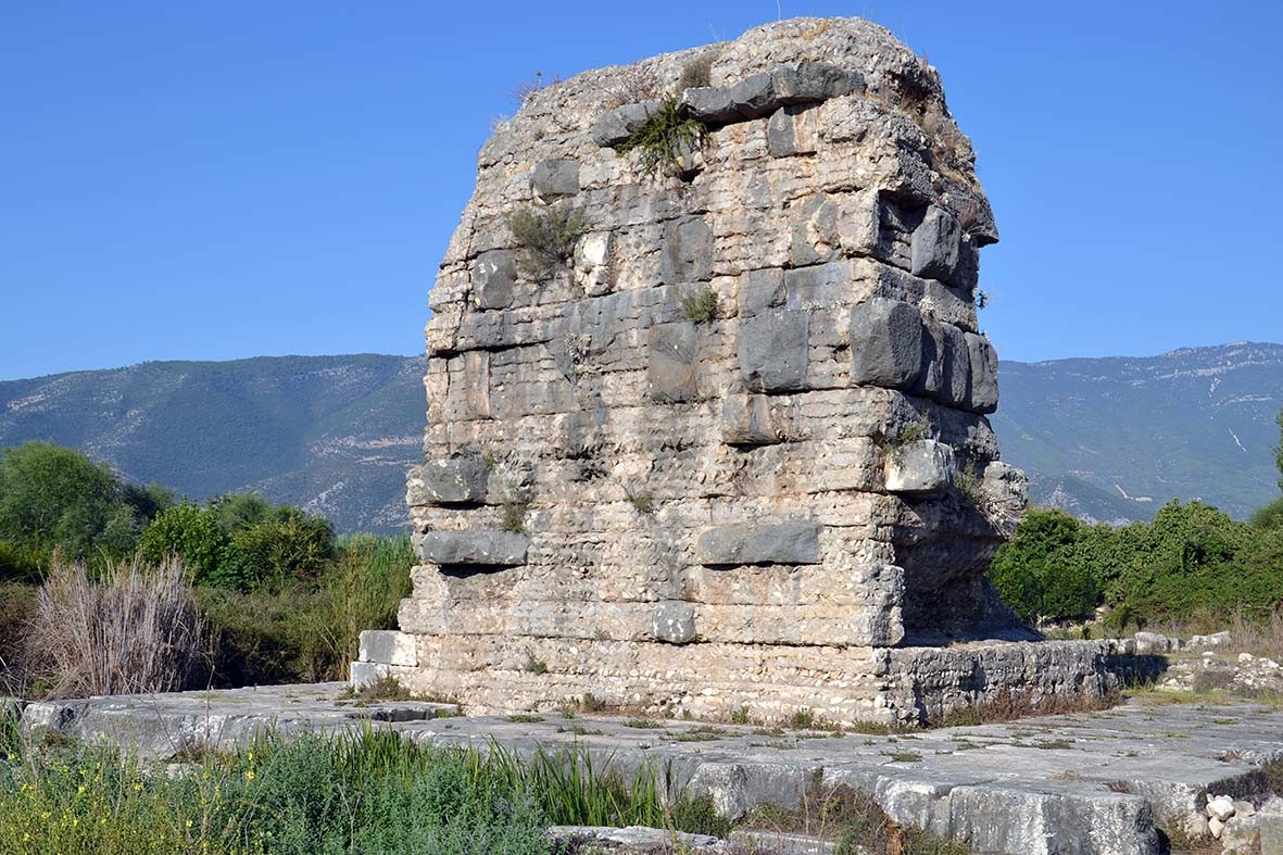The kenotaph of Gajus Caesar in Limyra