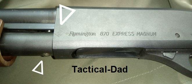 Remington 870 Repetierflinte. Von Frankonia auf Salut umgebaut. Die Waffe hat eine BKA Bauartzulassung die von Frankonia selber eingeschlagen wurde. Ein Stahlbolzen durch das Magzinrohr verhindert das Zerlegen.