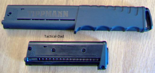 Das große Magazin ist auch für First-Strike Geschosse geeignet. Beide Magazine können in der TIPX und dem TCR verwendet werden.