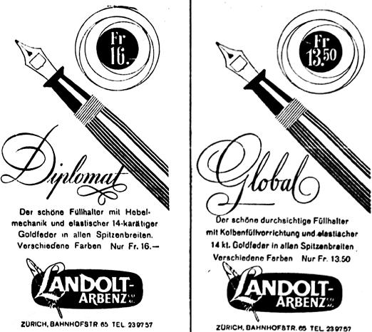 1948 und 1950 gleiches Layout zwei Marken