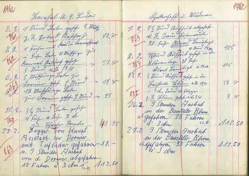 Rechnungsbuch von 1961