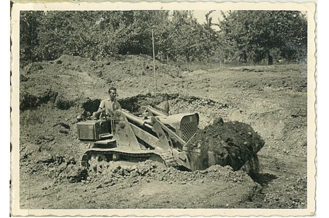 Aushubarbeiten in den 60ger Jahren