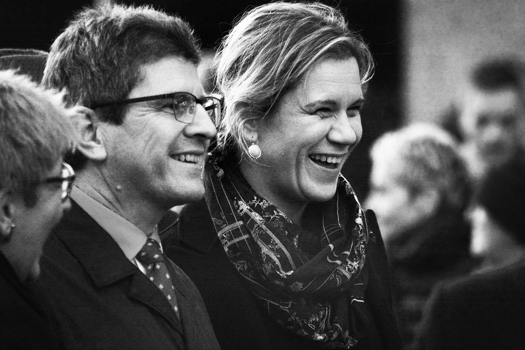 Stadtpräsident Erich Fehr, Gemeinderätin und Finanzdirektorin Silvia Steidle