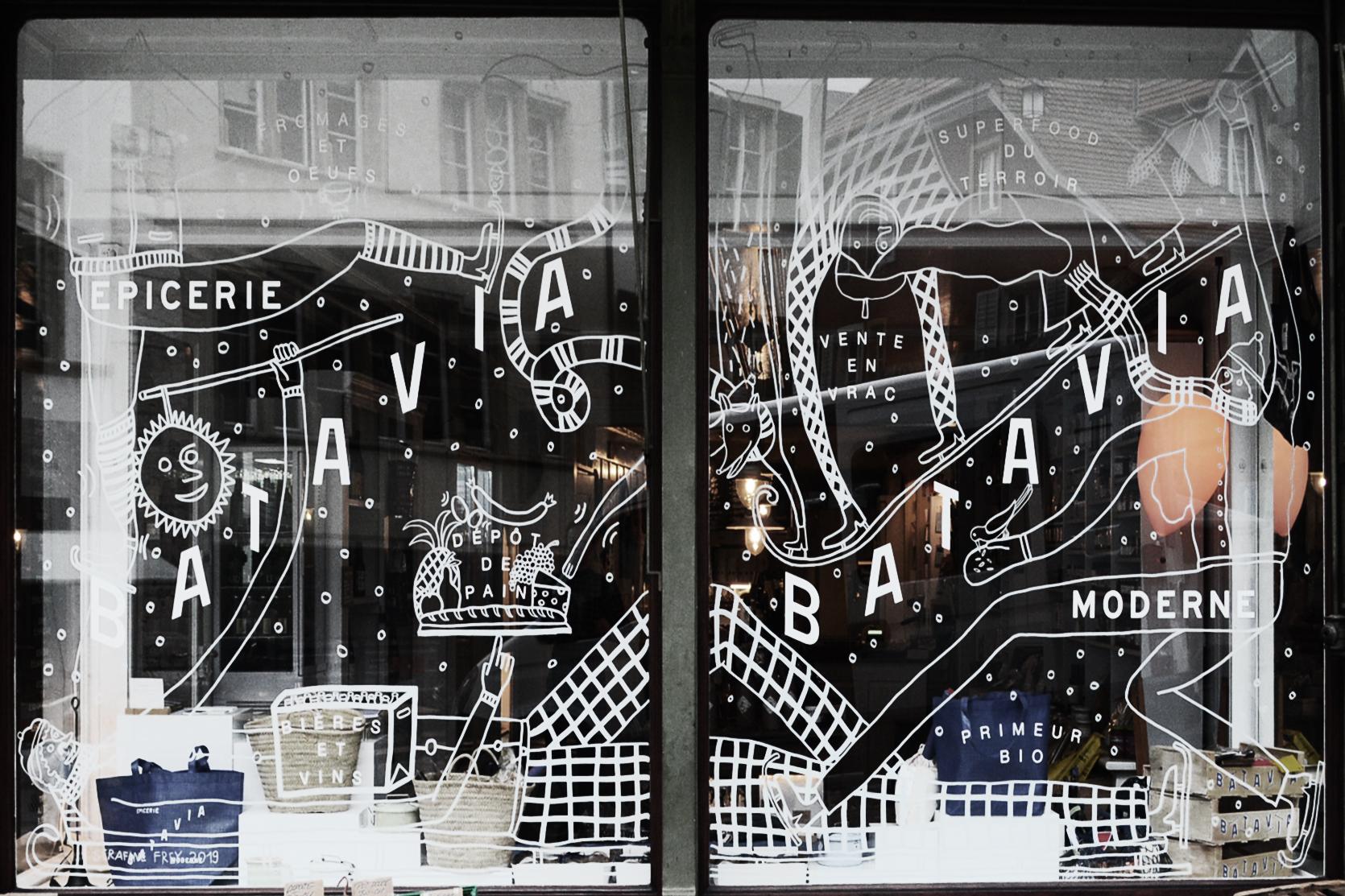 Weihnachtsschaufenster / Vitrine de Noel de l'artiste Sérafine Frey