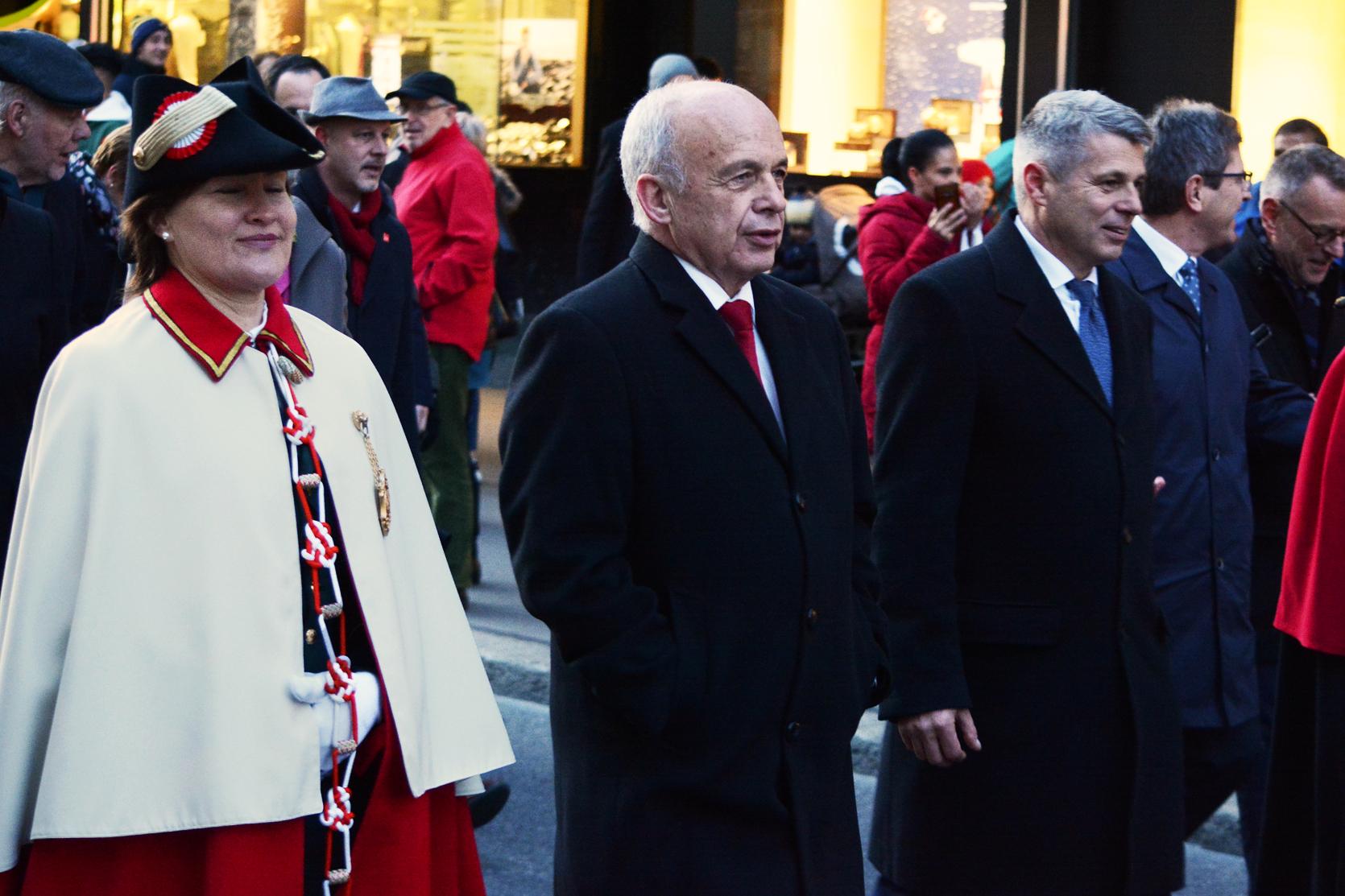 Weibel, Bundesrat Ueli Maurer und Berner Regierungspräsident Christoph Ammann