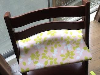 Sさまの作品☆ 黄緑とナチュラルの椅子をお持ちのSさま。ピッタリな色合い❤
