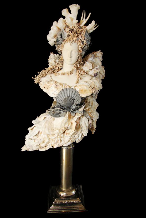 Sea Angel, H 60 x L 28x P 25 cm. 6 Kg. Pièce unique.