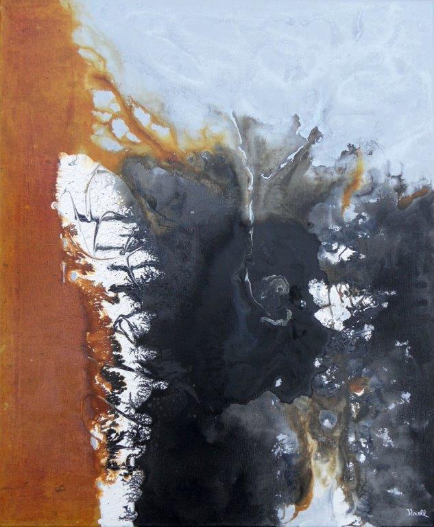 Engel der Sturmflut / Mischtechnik auf Leinwand / 100 x 80 cm