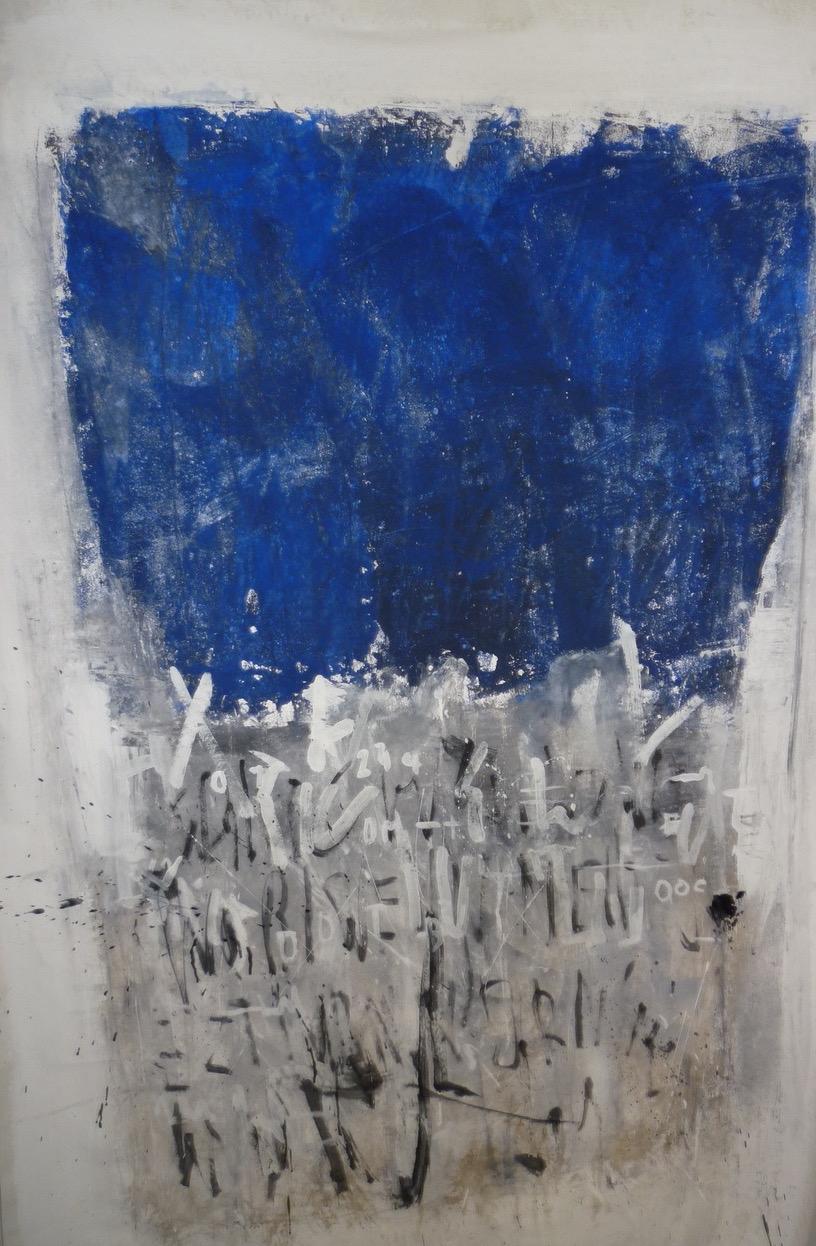 Geheime Zeichen / Mischtechnik auf Leinwand / 120 x 100 cm
