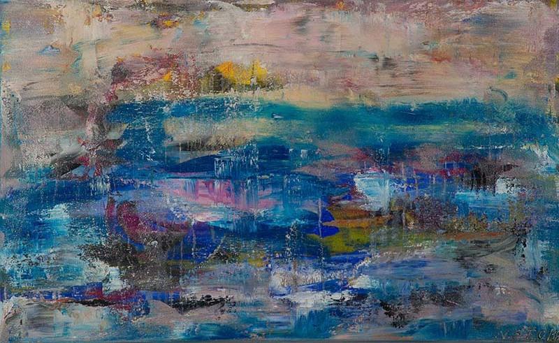 Ruhe / Acryl auf Leinwand / 80 x 130 cm