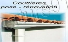gouttière PVC zinc