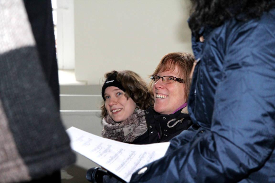 Sopran: Sophie, Anika und (der linke Arm von) Susi