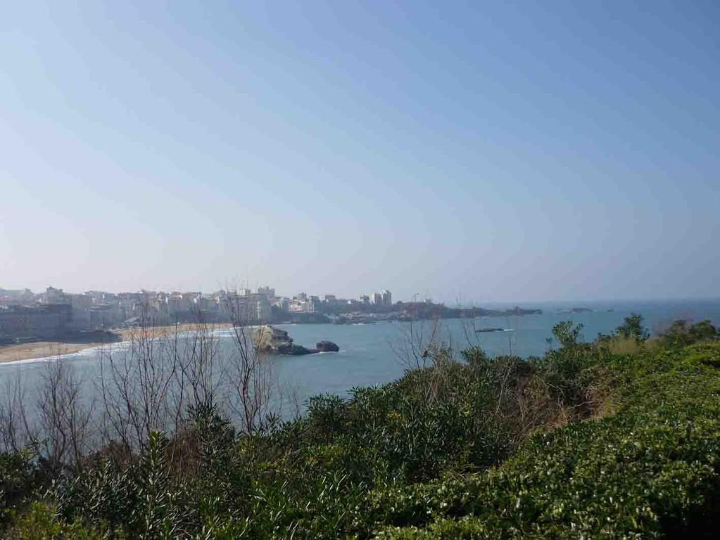Promenade du phare vue sur Biarritz