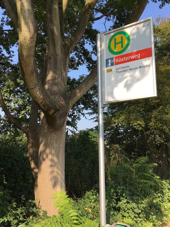 "Haltestelle ""Höxterweg"""