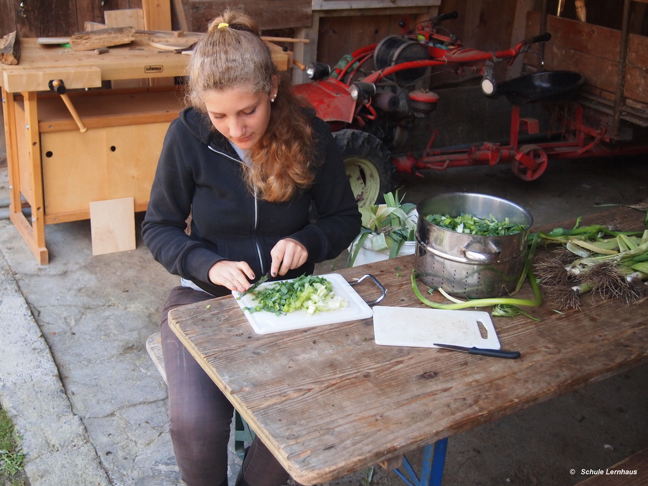 Gemüse verarbeiten