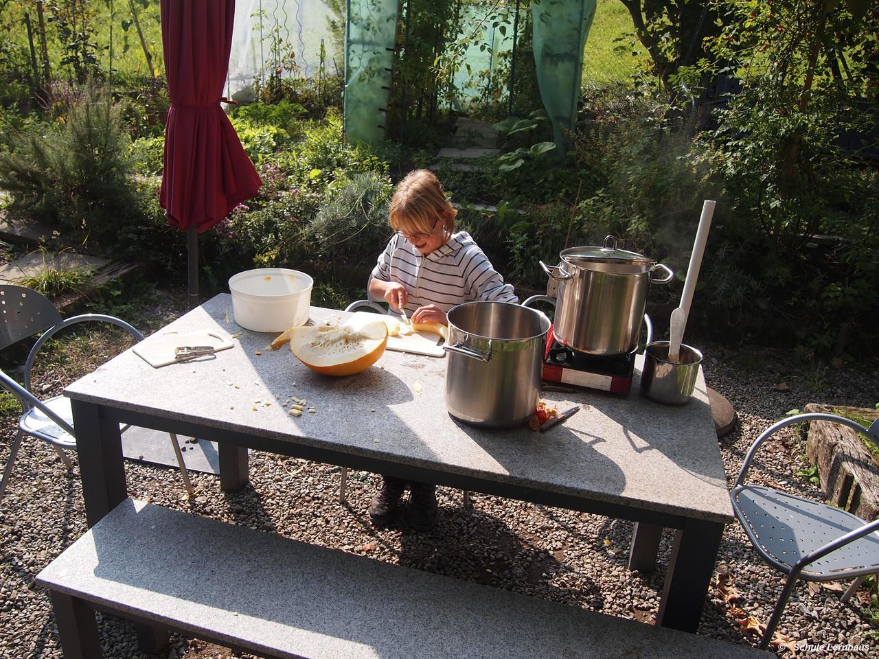 Kürbissuppe machen