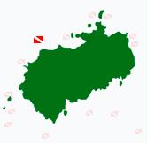 Tauchplatz-Karte von der Kokosinsel