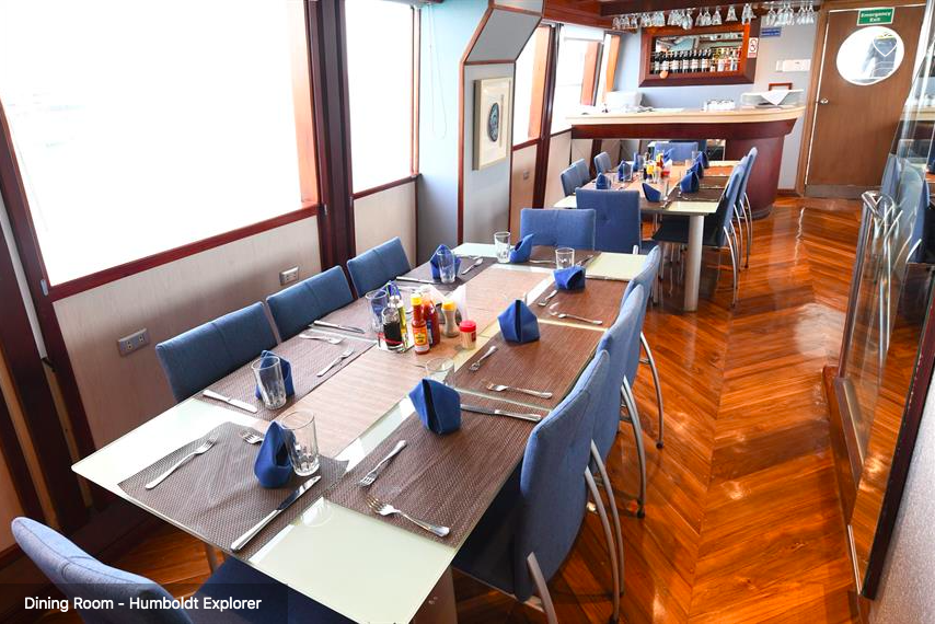 Galapagos Shark Diving - Dining area of the ship Galapagos Dive Liveaboard