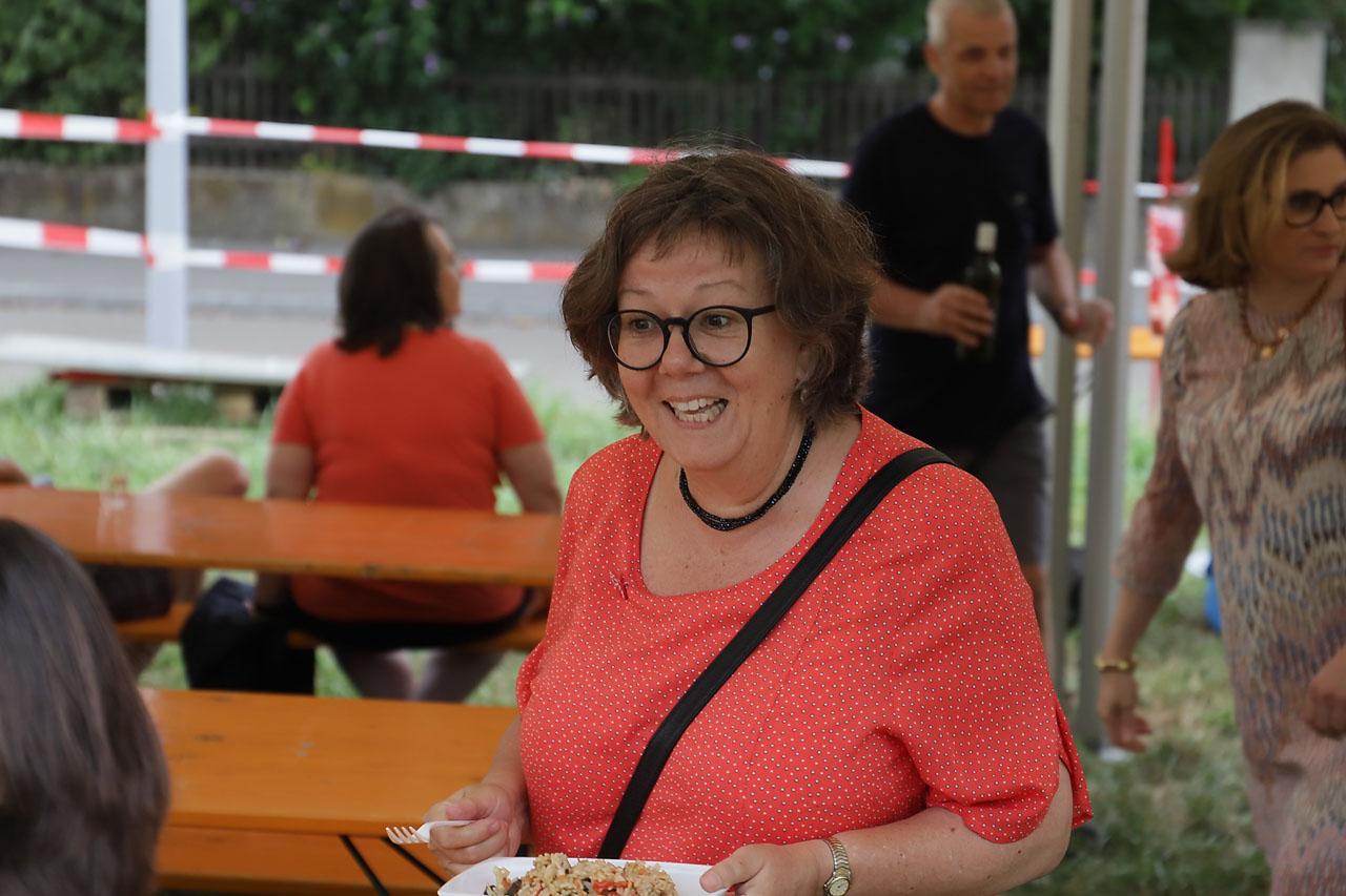 Beatrice Isler, Grossrätin und Ehrenpräsidenten des Neutralen Quartiervereiens Gundeldingen.