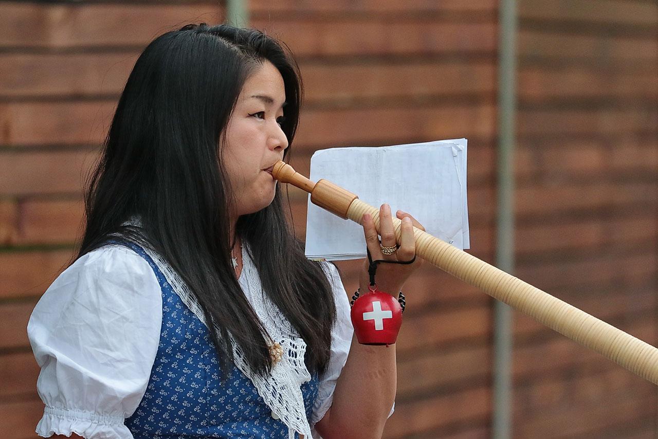 ... eine Japanerin, ...