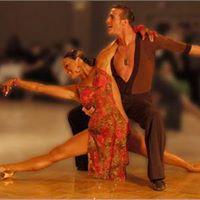 Vitrail d'un couple de danseur fait a partir du logiciel Glasseyes