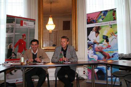 Sportzirkel 2008: Präsident Dr. Lopatka und Geschäftsführer Mag. Heralic