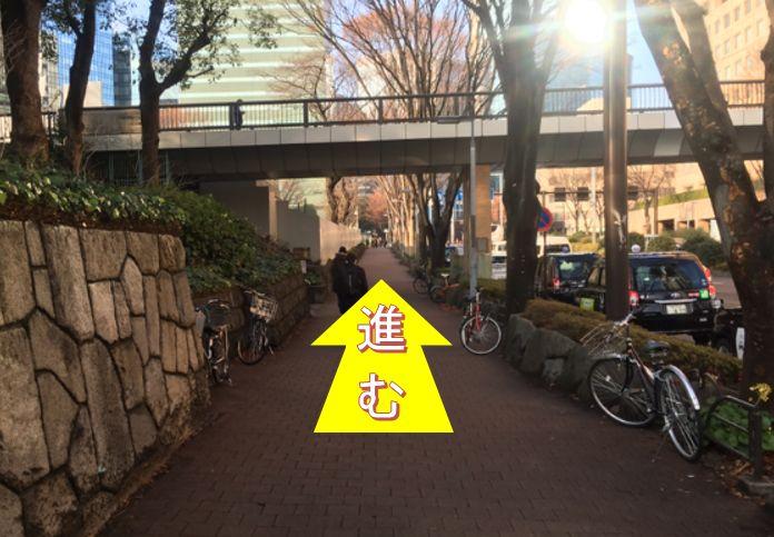 大江戸線都庁前駅からの道順④