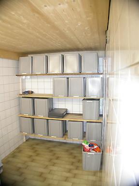 Kühlraum mit Kühlschrank