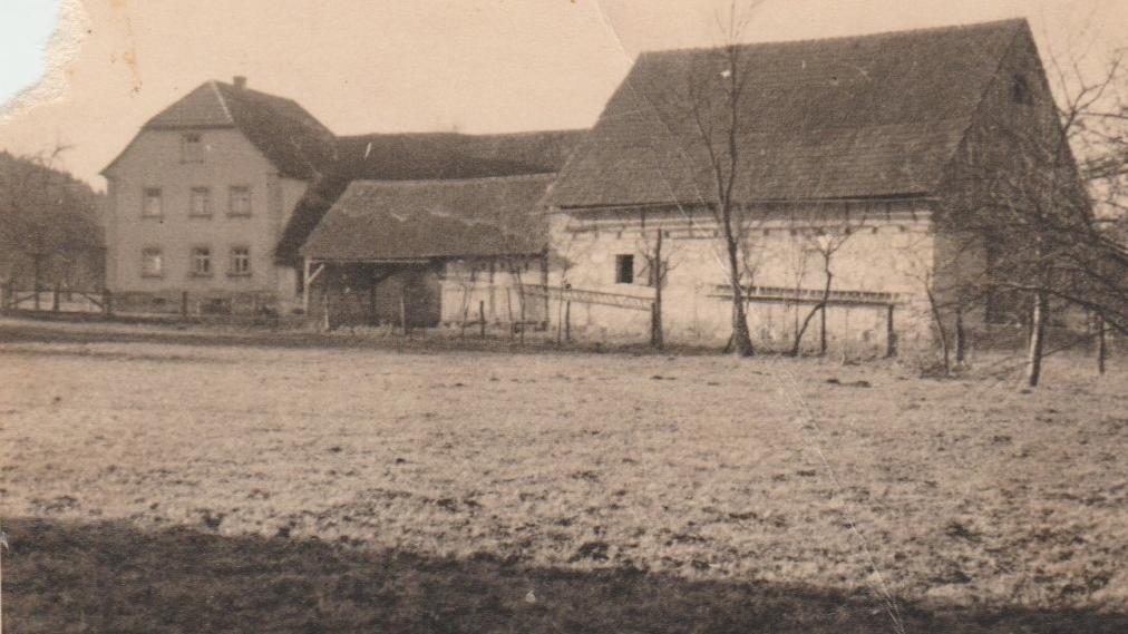 Das Anwesen der Familie Bieger in Rothenbühl 1940.