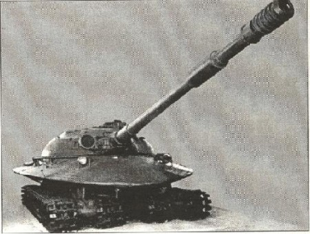Notez la volée exceptionnelle du canon de 130 mm