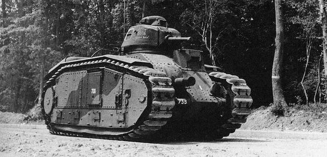 Le B1 Bis, version finalisée du premier char lourd français