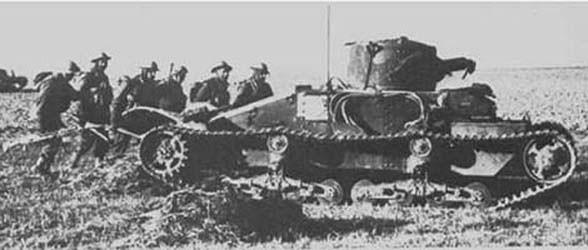 Ce Matilda Mk I se prépare pour l'assaut près d'Arras, où il fera sensation dans les lignes ennemies