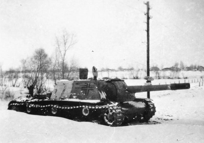Quelques clichés de SU-152 capturés prouvent que le sabotage n'était pas toujours possible