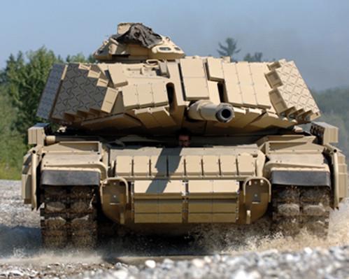Ce M60 Patton est méconnaissable avec ses briques