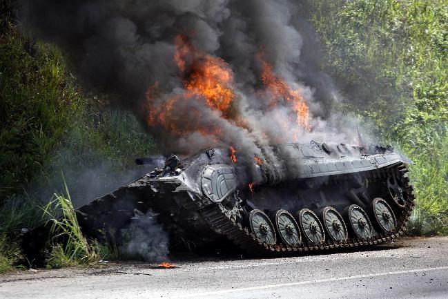 Un coup au but est très souvent synonyme d'incendie dans le compartiment de combat