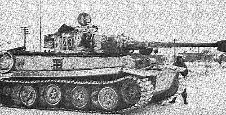 L'un des premiers char Tigre sur le front de Leningrad fin 1942