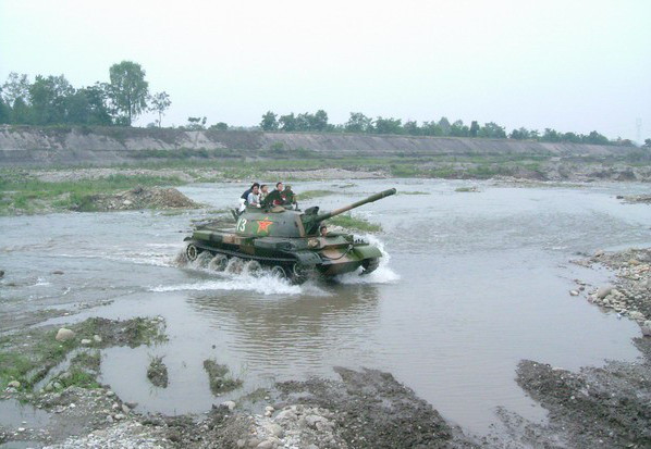 Le Type 62 est en revanche parfaitement adapté au combat dans les zones de faible portance
