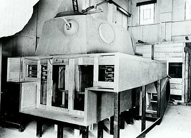 Autre vue de la maquette du prototype d'Henschel