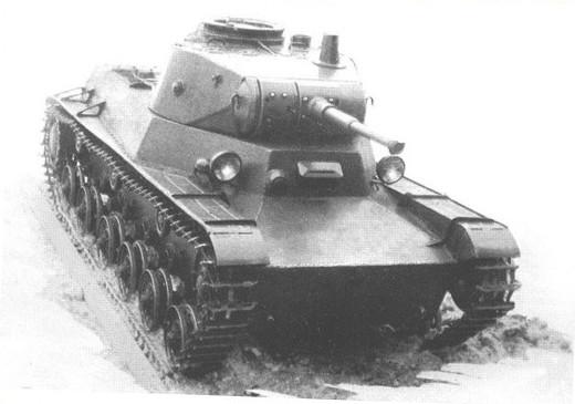 Seule photographie du prototype T-50-2, plus démonstrateur que réellement char de combat
